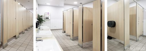Floor Mounted with Floor Brackets / Overhead Braced Cubicle Partitioning Systems
