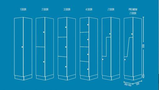 Standard Lockers Spec Drawing